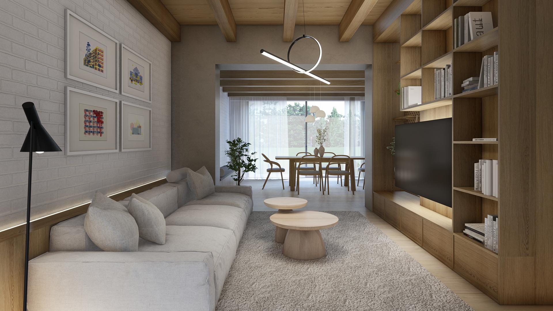Ľudová štvrť - rekonštrukcia domu s návrhom interiéru