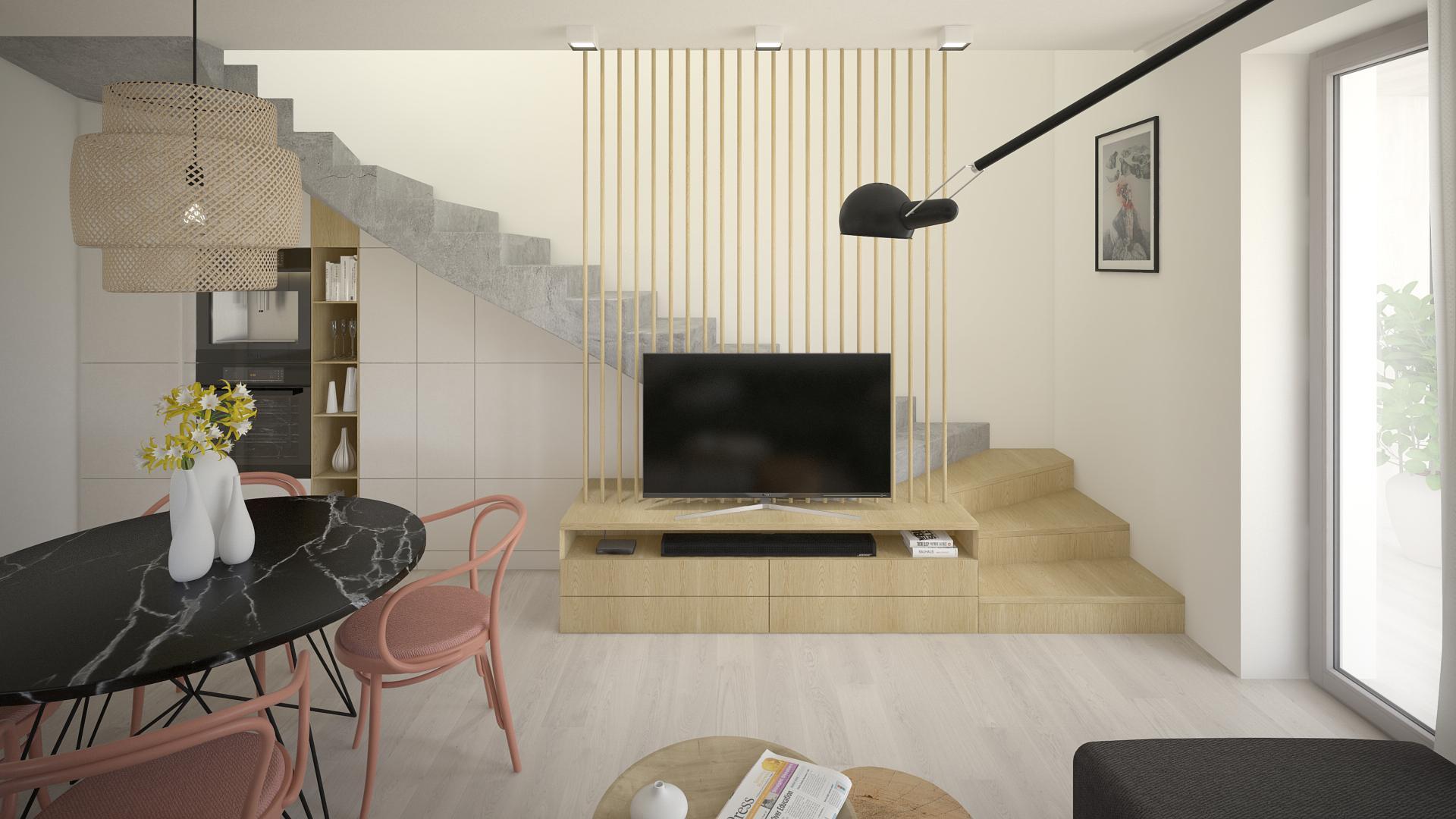 Ivanka pri Nitre - zariadenie 3 - izbového mezonetového bytu
