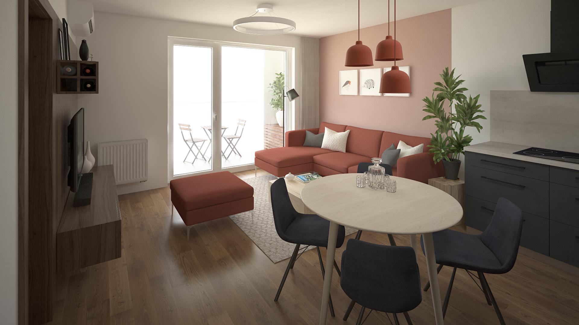 Urban Residence - zariadenie 2 - izbového bytu
