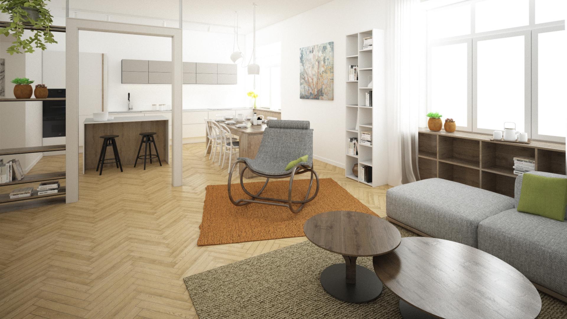 Rekonštrukcia 3-izbového bytu - Brno